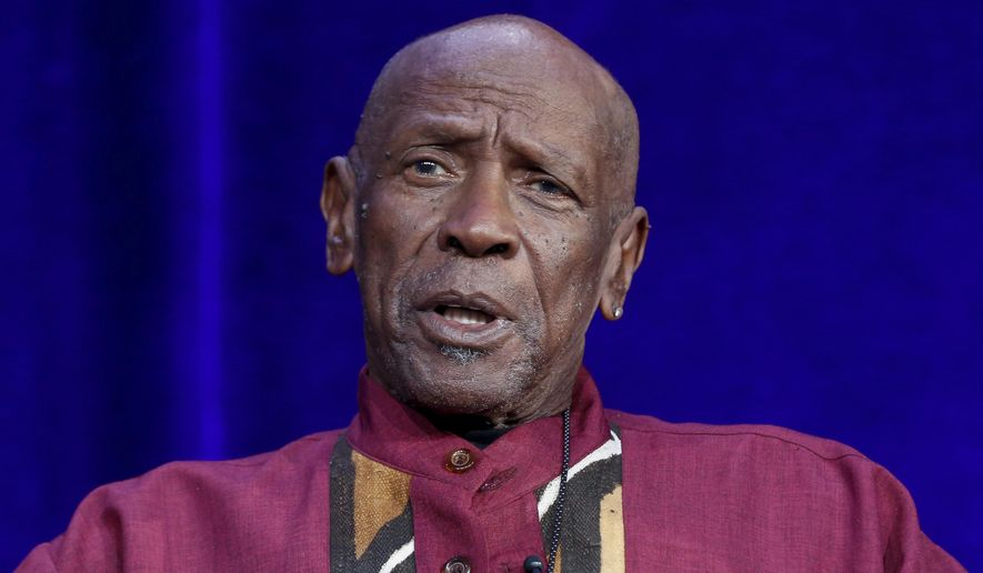 "FILE - In this  Jan. 15, 2017, file photo, Louis Gossett Jr. speaks at the PBS's American Masters ""Maya Angelou: And Still I Rise"" panel at the 2017 Television Critics Association press tour in Pasadena, Calif. Gossett Jr. has some advice for any victor at the Sunday, March 4, 2018, Oscar ceremony: Don't let it change you. Gossett's performance in ""An Officer and a Gentleman"" brought him a best supporting actor award in 1983. (Photo by Willy Sanjuan/Invision/AP, File)"