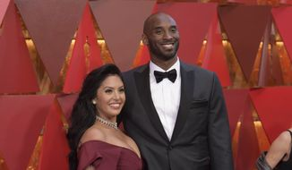 Vanessa Laine Bryant, left, and Kobe Bryant arrive at the Oscars on Sunday, March 4, 2018, at the Dolby Theatre in Los Angeles. (Photo by Richard Shotwell/Invision/AP)