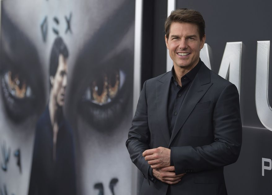 """FILE - In this Tuesday, June 6, 2017, file photo, Tom Cruise attends a special screening of """"The Mummy"""" at AMC Loews Lincoln Square in New York. Cruises attempted reboot of the Mummy franchise landed him the 2017 Razzie Award for worst actor. (Photo by Evan Agostini/Invision/AP, File)"""