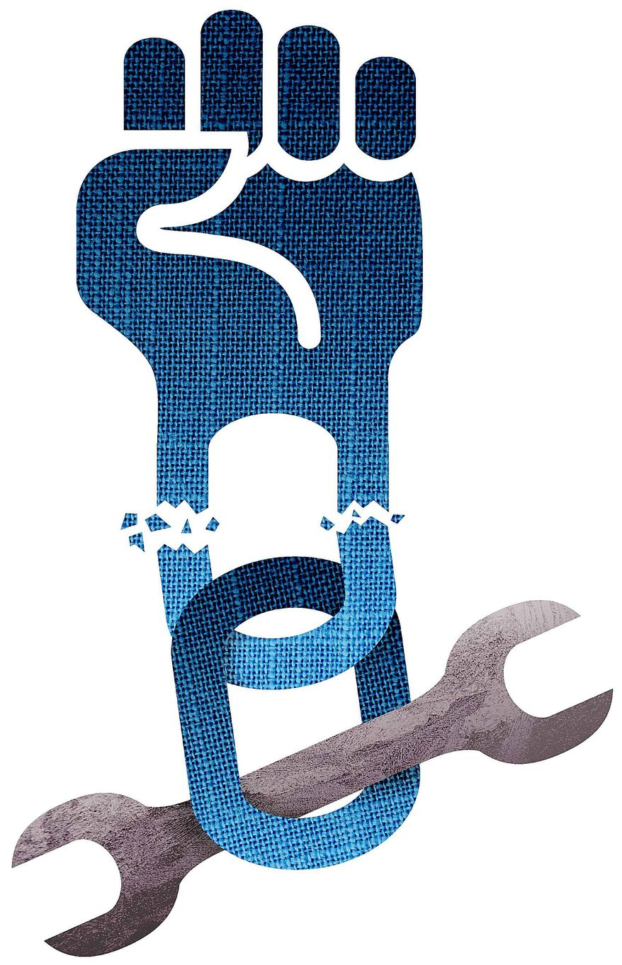 Threat to the Labor Unions Illustration by Greg Groesch/The Washington Times