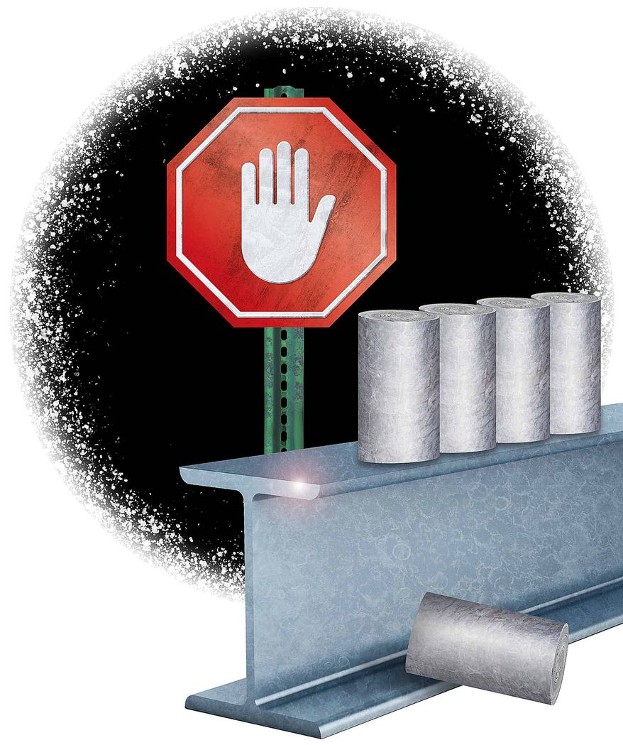 Stopping the Tariffs Illustration by Greg Groesch/The Washington Times