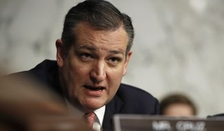 In this Dec. 6, 2017, file photo, Sen. Ted Cruz, R-Texas, speaks during a Senate Judiciary Committee hearing on Capitol Hill in Washington. (AP Photo/Carolyn Kaster, File)