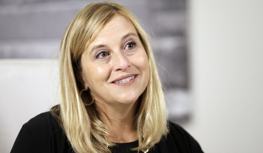 FILE-In this Monday, Aug. 7, 2017 file photo, Nashville Mayor Megan Barry speaks during a news conference in her office, in Nashville, Tenn. A month after she admitted to an extramarital affair with her then-bodyguard, Barry has pleaded guilty to theft of property. Barry first admitted Jan. 31, 2018, to having an affair with Sgt. Robert Forrest, she said she planned to stay in office. But on Tuesday, March 6 she scheduled a news conference and was expected to announce she's leaving the job. (AP Photo/Mark Humphrey, File)
