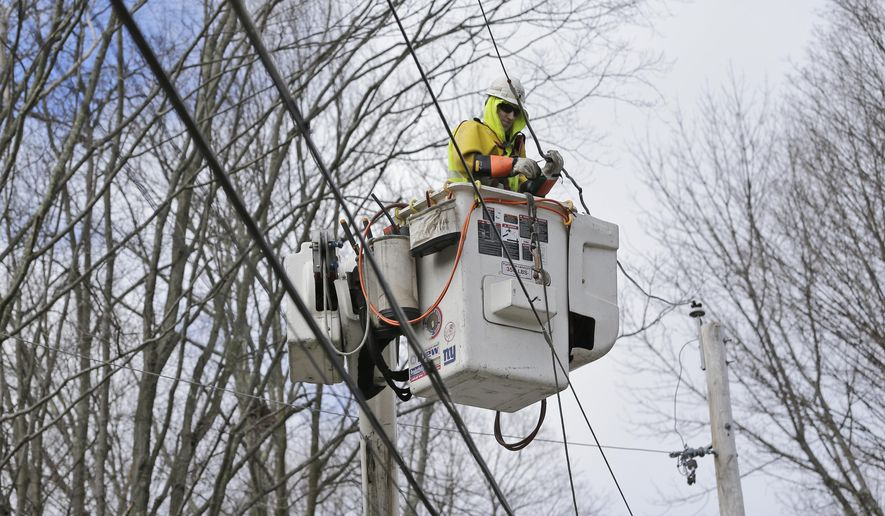 Charlie Ruff With Jersey Central Power And Light Works To Repair Power  Lines In Morristown,