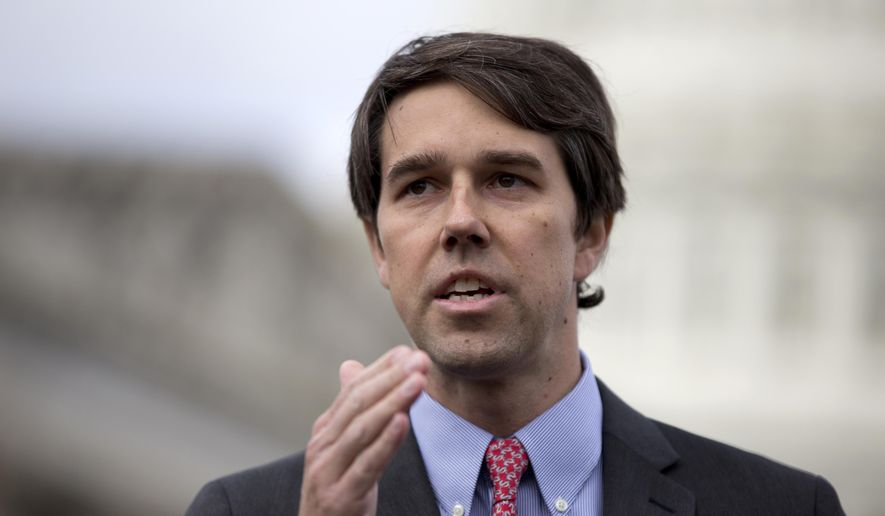 In this Feb. 27, 2013, file photo, Rep. Beto O'Rourke, D-Texas, speaks during a news conference on Capitol Hill in Washington. (AP Photo/Carolyn Kaster, File)
