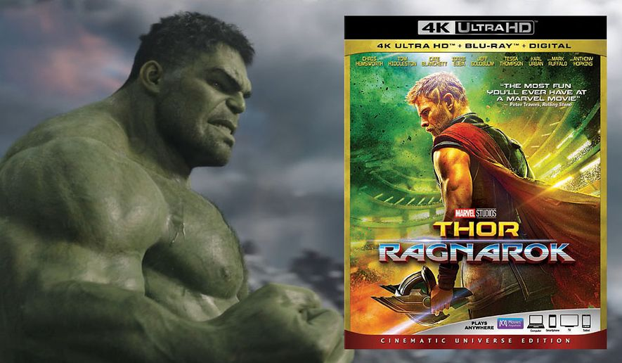 """The Incredible Hulk returns in """"Thor: Ragnarok,"""" now available on 4K Ultra HD from Walt Disney Studios Home Entertainment."""
