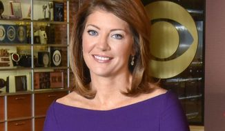 "This undated image released by CBS, shows co-anchor Norah O'Donnell on the set of ""CBS This Morning,"" in New York. O'Donnell is back from Saudi Arabia where she said Wednesday that she conducted the first U.S. television interview with that country's de facto leader, Crown Prince Mohammed bin Salman, for ""60 Minutes.""  It will air on ""60 Minutes"" on March 18. (Michele Crowe/CBS via AP)"