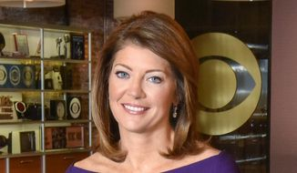 "This undated image released by CBS, shows co-anchor Norah O'Donnell on the set of ""CBS This Morning,"" in New York. (Michele Crowe/CBS via AP) ** FILE **"