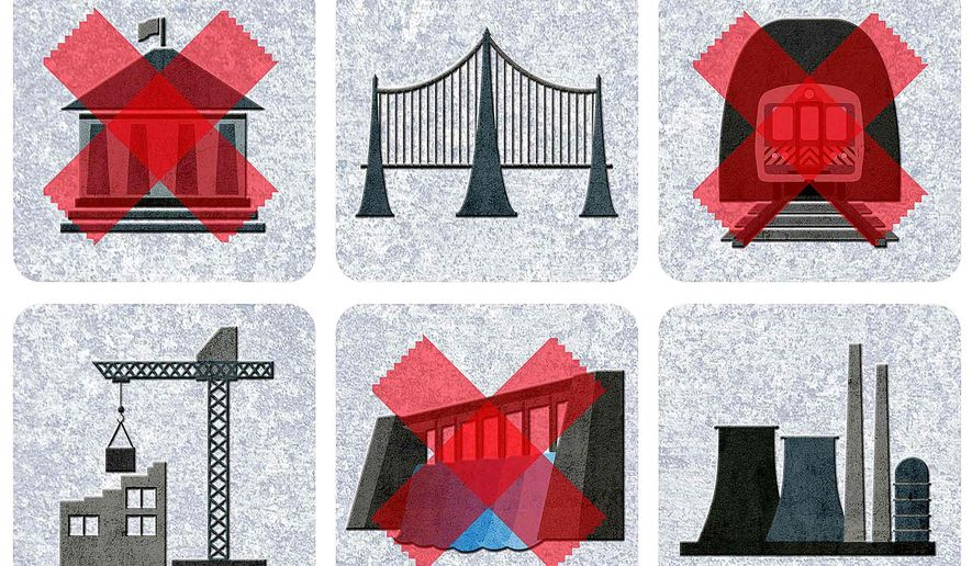 Municipal Projects Nixed by Government Regulations Illustration by Greg Groesch/The Washington Times