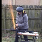 Karen Mallard, Democrat for Congress in Virginia, destroys her AR-16 in Fecebook video.