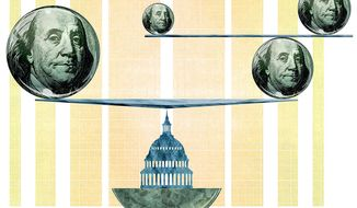 The Budget in Perfect Balance Illustration by Greg Groesch/The Washington Times