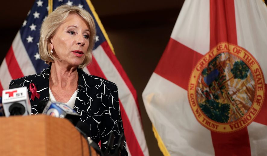 Secretary of Education Betsy DeVos is leading President Trump's commission. The commission is examining Obama-era safety rules, and perhaps suggesting that the time for such policies has ended.