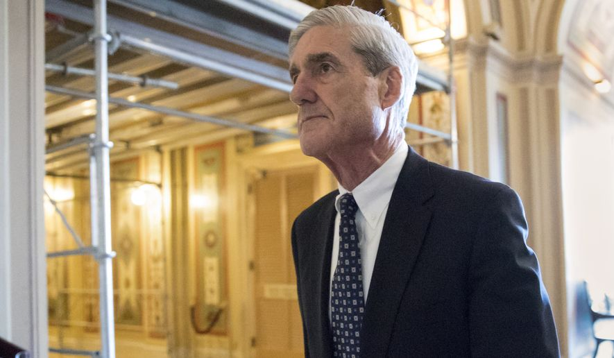 FILE - In this June 21, 2017, file photo, special counsel Robert Mueller departs after a meeting on Capitol Hill in Washington. Republicans who spent the early months of 2017 working with Democrats on investigations into Russian interference in U.S. elections have pivoted as the new year begins, leaving the conclusions of those congressional probes in doubt. As special counsel Robert Mueller has ramped up his own Russian investigation and brought charges against four of President Donald Trump's campaign advisers, and as midterm elections loom, Republicans have changed focus in their own Russia probes. (AP Photo/J. Scott Applewhite, File)