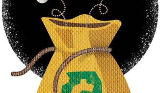 Illinois Money Bag Illustration by Greg Groesch/The Washington Times