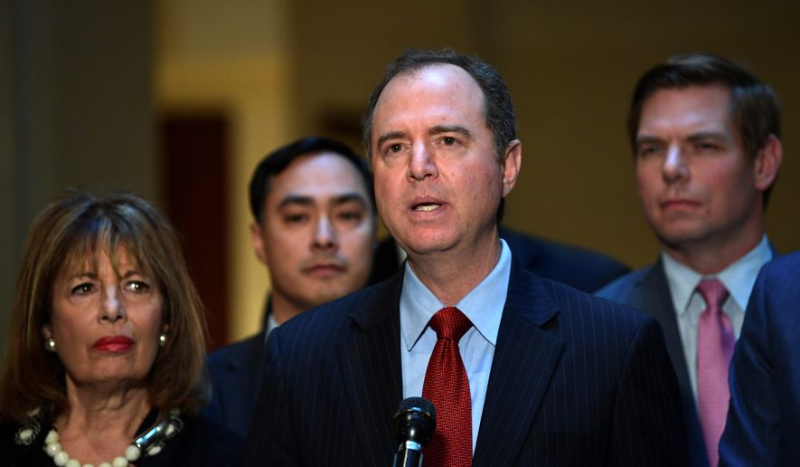 Last month, Rep. Devin Nunes and Rep. Adam Schiff (center) issued dueling memos over alleged Justice Department and FBI abuses at the nation's secret surveillance court when securing warrants.