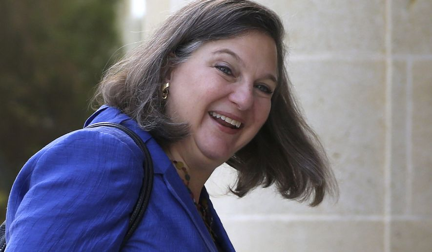 "New disclosures included that Victoria Nuland, then at State, started the FBI-Steele marriage are contained in ""Russian Roulette."" The book, which was released Tuesday. (Associated Press)"