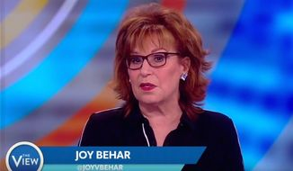 "Comedian Joy Behar apologizes for past comments linking Christianity to mental illness during a March 13, 2018, broadcast of ABC's ""The View."" (Image: YouTube, ""The View"" screenshot)"