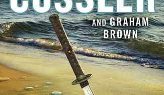 """This cover image released by Putnam shows """"The Rising Sea,"""" a novel by Clive Cussler and Graham Brown. (Putnam via AP)"""