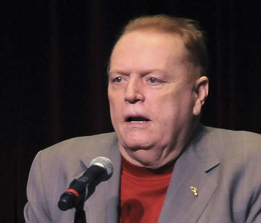 FILE - In this April 30, 2011 file photo, Larry Flynt speaks in Los Angeles, Calif. A federal appeals court has ruled against Hustler magazine publisher Flynt in his bid for information on how Missouri executes prisoners. The court ruled Tuesday, March 13, 2018, to allow the state not to release information about the medical qualifications of some members of the Department of Correction's execution team. Flynt's interest began when the state was preparing to execute the man who shot and paralyzed him in 1978. The man was executed for another crime. (AP Photo/Katy Winn, file)
