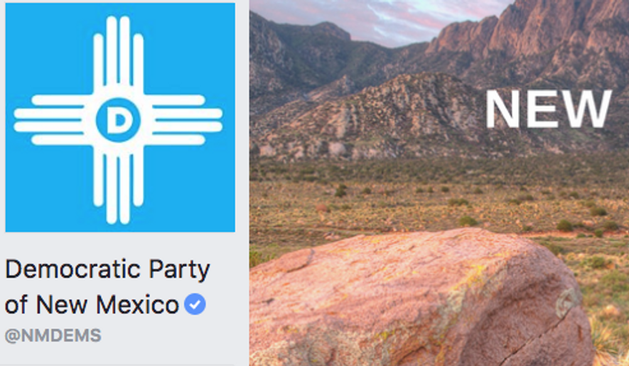 Screen capture from the official Facebook page for the Democratic Party of New Mexico (Facebook)