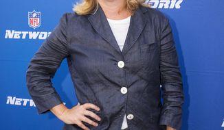 """FILE - In this Aug. 24, 2017, file photo, NFL Network President Maryann Turcke attends the Hall of Fame Heroes Event in Santa Monica, Calif. The NFL has promoted Maryann Turcke to chief operating officer, making her the highest-ranking woman at the league offices. Commissioner Roger Goodell said Tuesday, March 13, 2018, she has """"distinguished herself by leading NFL Network to a record-setting year.""""(Colin Young-Wolff/AP Images for NFL Network, File)"""