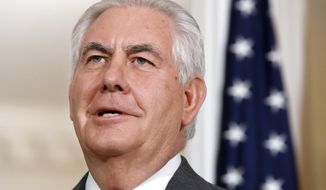 In this Jan. 29, 2018, photo, Secretary of State Rex Tillerson speaks at the State Department in Washington. (AP Photo/Jacquelyn Martin)
