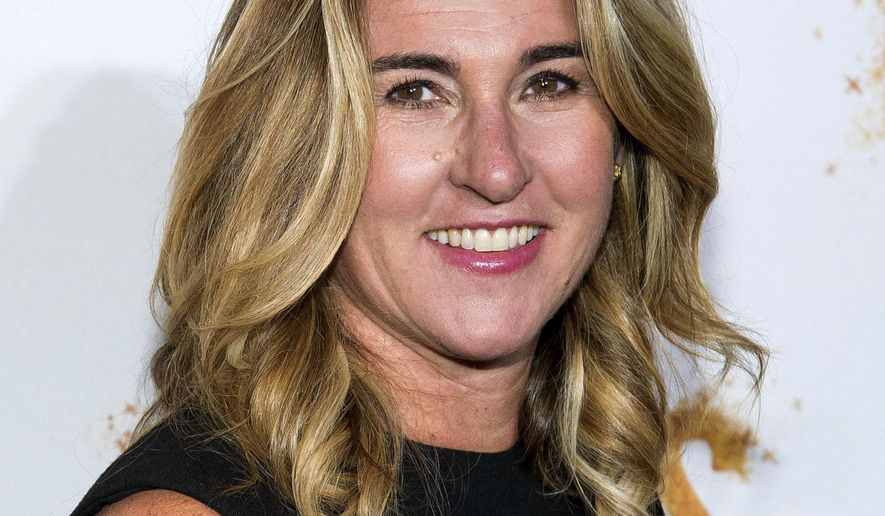 """FILE - In this May 23, 2016, file photo, Nancy Dubuc attends History Channel's """"Roots"""" mini-series premiere in New York. Vice Media has appointed Dubuc, the former head of the A&E Networks, to be its chief executive as the company tries to rebound from sexual misconduct allegations.  (Photo by Charles Sykes/Invision/AP, File)"""