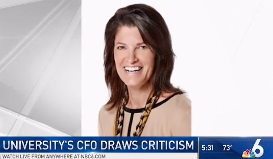Anita Britt, the chief financial officer at St. Thomas University in South Florida, resigned Tuesday amid backlash over her position on the board of trustees for American Outdoor Brands Corporation, the parent company of gun manufacturer Smith & Wesson. (NBC 6)