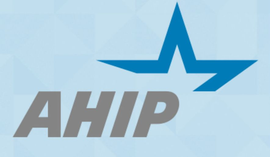 Logo for America's Health Insurance Plans (AHIP) a health insurance lobby group (AHIP.org). [https://www.ahip.org/wp-content/themes/main/images/logo-meta.png]