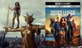 "Gal Gadot stars as Wonder Woman in ""Justice League,"" now available on 4K Ultra HD from Warner Bros. Home Entertainment."