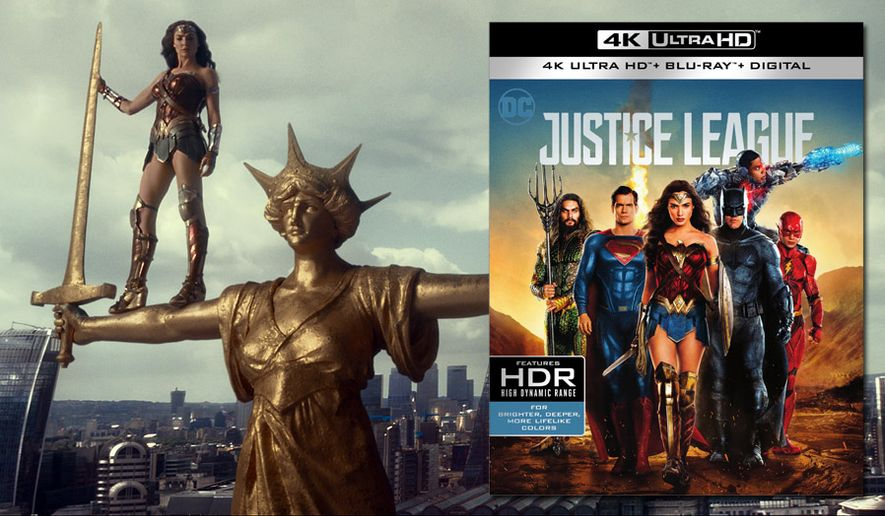 """Gal Gadot stars as Wonder Woman in """"Justice League,"""" now available on 4K Ultra HD from Warner Bros. Home Entertainment."""