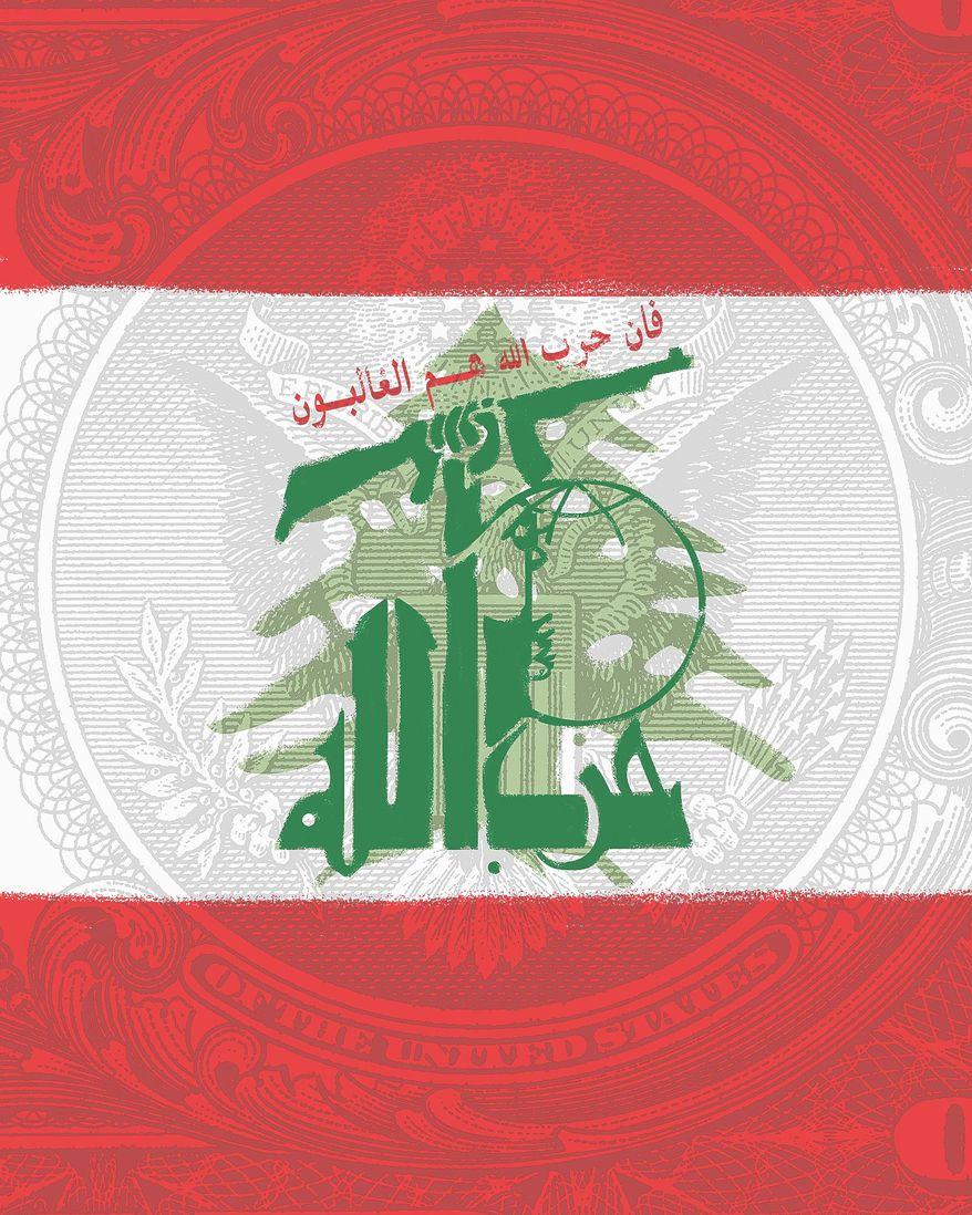 Illustration on Hezbollah in Lebanon by Linas Garsys/The Washington Times