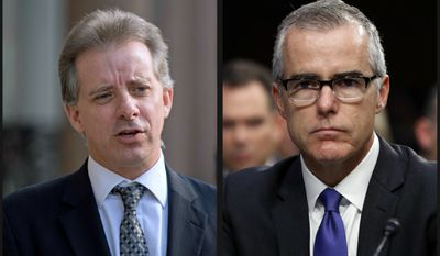 Former British spy Christopher Steele (l) and besieged Deputy FBI Director Andrew McCabe.