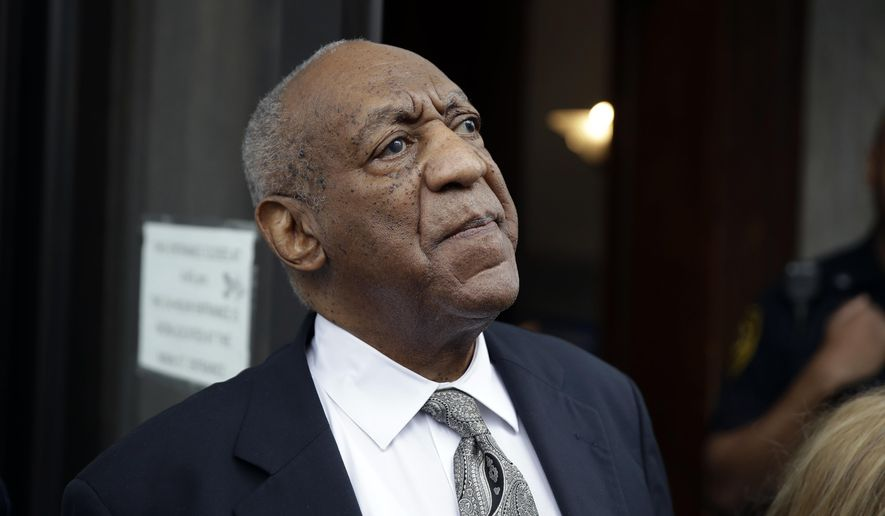 "FILE- In this June 17, 2017, file photo, Bill Cosby exits the Montgomery County Courthouse after a mistrial was declared in Norristown, Pa. On Thursday, March 15, 2018, a judge agreed to let five additional Cosby accusers testify at his April 2 sexual assault retrial, giving prosecutors a chance to portray the man once known as ""America's Dad"" as a serial predator who made a habit of drugging and molesting women. (AP Photo/Matt Rourke, File)"