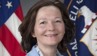 This March 21, 2017, photo provided by the CIA, shows CIA Deputy Director Gina Haspel. The news organization ProPublica corrected a story about President Trump's choice as the next CIA director and the waterboarding of a detainee the year after the Sept. 11, 2001 terrorist attacks. Other organizations, including the Associated Press, have issued done the same, illustrating the murkiness of reporting on the behavior of official actions by public servants whose work remains in the shadows. (CIA via AP)