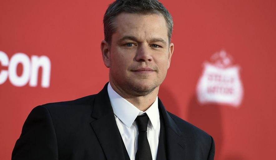 FILE - In this Oct. 22, 2017, file photo, Matt Damon arrives at a movie premier in Los Angeles. A publicist for Damon is batting down reports that the actor is moving to Australia with his family because he disagrees with President Donald Trump's policies. (Photo by Jordan Strauss/Invision/AP, File)
