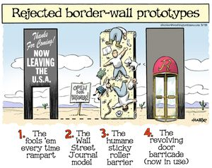 Rejected border-wall prototypes