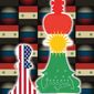 Illustration on Syrian strategic choices by Linas Garsys/The Washington Times