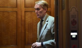 """I don't know of any American who's going to be 'Hey, you know what's running well? The Senate,'"" said Sen. James Lankford of Oklahoma. (Associated Press)"