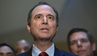"""This would undoubtedly result in a constitutional crisis, and I think Democrats and Republicans need to speak out about this right now,"" Rep. Adam Schiff, the top Democrat on the House Intelligence Committee, told ABC's This Week. (Associated Press)"