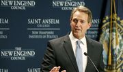Sen. Jeff Flake, R-Ariz., speaks at the New Hampshire Institute of Politics at Saint Anselm College in Manchester, N.H. Friday, March 16, 2018. (AP Photo/Winslow Townson) ** FILE **