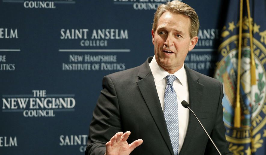 Jeff Flake says Trump firing Mueller 'massive red line that can't be crossed'