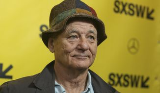 "Bill Murray arrives for the North American premiere of ""Isle of Dogs"" at the Paramount Theatre during the South by Southwest Film Festival on Saturday, March 17, 2018, in Austin, Texas. (Photo by Jack Plunkett/Invision/AP)"