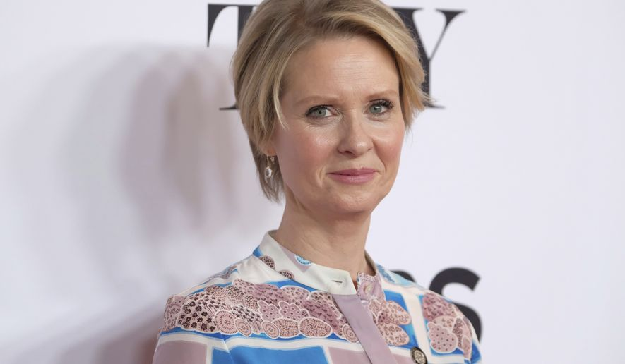 Cynthia Nixon participates in the 2017 Tony Awards Meet the Nominees press day at the Sofitel New York hotel on Wednesday, May 3, 2017, in New York. (Photo by Charles Sykes/Invision/AP)
