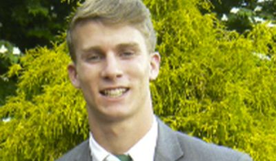 This undated photo released by the Bermuda Police Service shows American college student Mark Dombroski, who has been reported missing in Bermuda. Bermuda police Dombroski was on a rugby tour with Saint Josephs University, a college near Philadelphia, when he disappeared early Sunday, March 18, 2018. (Courtesy of Bermuda Police Service via AP)