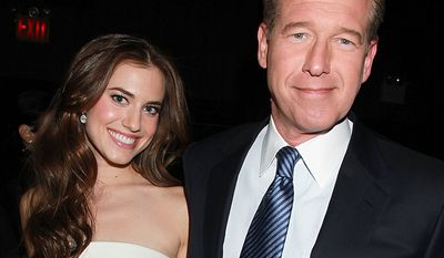 Allison Williams with her father Brian Williams.   