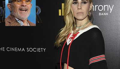 Zosia Mamet and father David Mamet.   Zosia Mamet, actress and musician.  David Mamet, playwright, essayist, screenwriter, and film director. (Photo by Evan Agostini/Invision/AP)