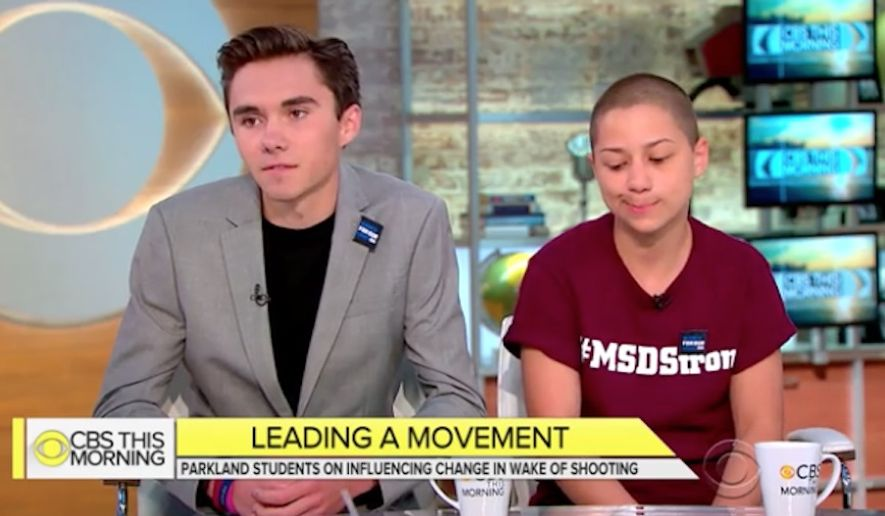 "David Hogg and Emma Gonzalez, two students who survived last month's mass shooting at Marjory Stoneman Douglas High School in Parkland, Florida, said Monday that the National Rifle Association has been ""basically threatening"" them. (CBS News)"