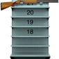 Illustration on raising the age limit for gun ownership by Alexander Hunter/The Washington Times