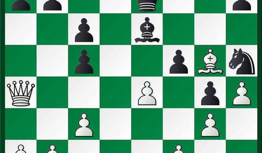 Aronian-Kramnik after 19. Bc1-g5.